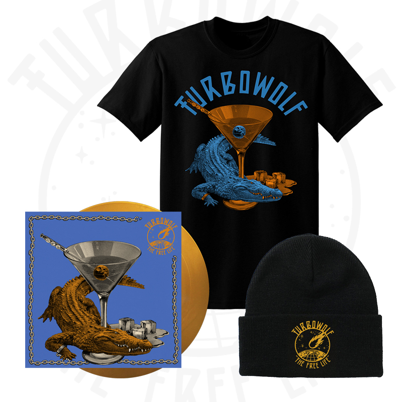 Buy Online Turbowolf - The Free Life Vinyl (Signed, Ltd Edition Gold + Download) + T-Shirt + Beanie