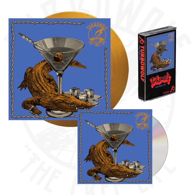 Buy Online Turbowolf - The Free Life CD (Signed) + Ltd Edition Gold Vinyl (Signed) + Cassette