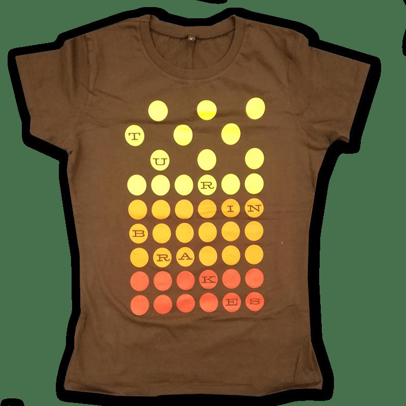 Buy Online Turin Brakes - Vintage Ladies Brown T-Shirt