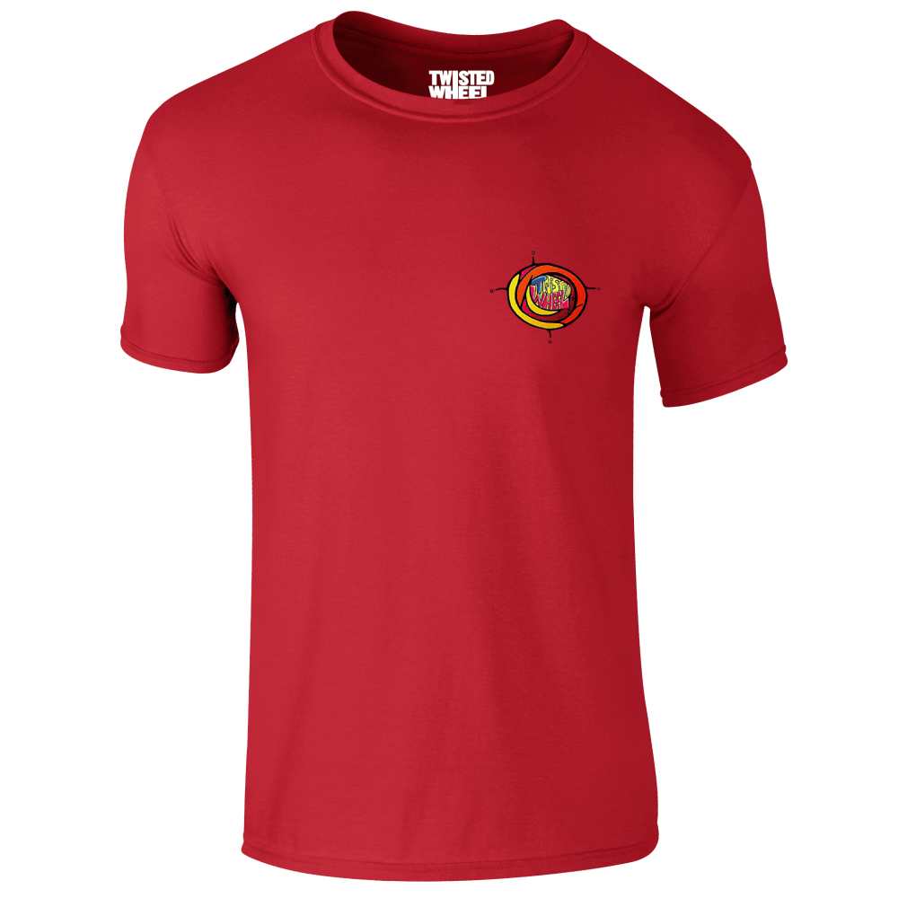 Buy Online Twisted Wheel - Coloured Chest Logo Red T-Shirt