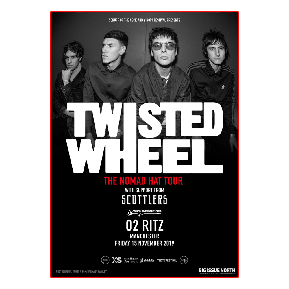 Buy Online Twisted Wheel - NOMAD HAT A3 Tour Poster (Signed)