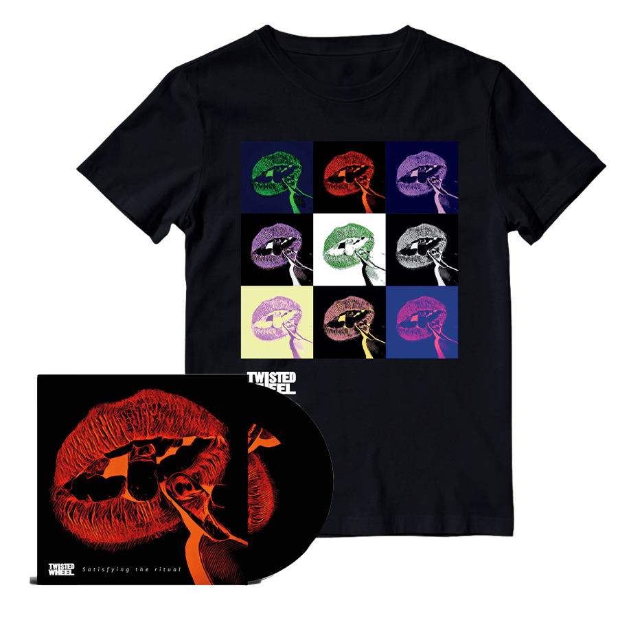 Buy Online Twisted Wheel - Satisfying The Ritual CD + Boxed Lips Black T-Shirt