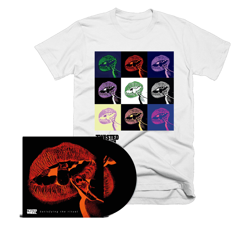 Buy Online Twisted Wheel - Satisfying The Ritual CD + Boxed Lips White T-Shirt