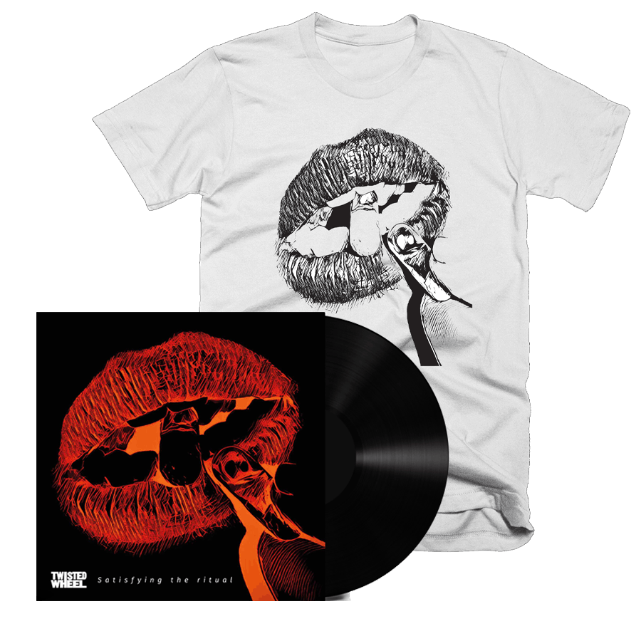 Buy Online Twisted Wheel - Satisfying The Ritual Signed Vinyl + Black Lips White T-Shirt