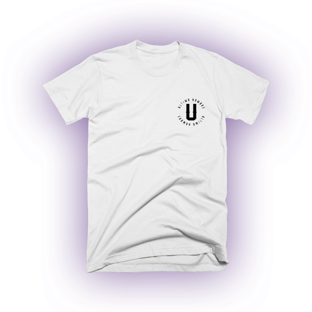 Buy Online Ultimo Hombre - UH Circle Logo White T-Shirt