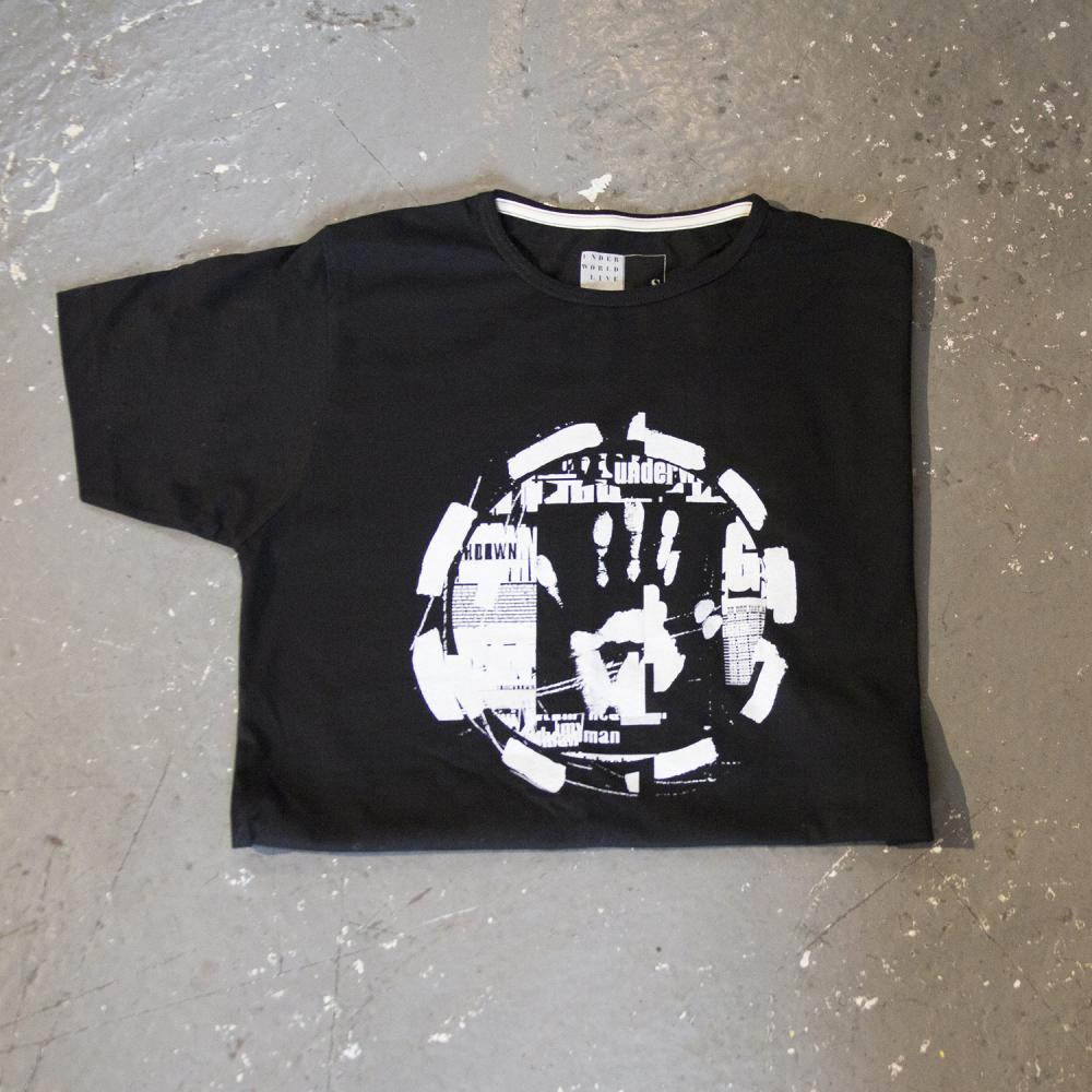 Buy Online Underworld - dubnobasswith myheadman Black T-Shirt (Super Slim Fit)