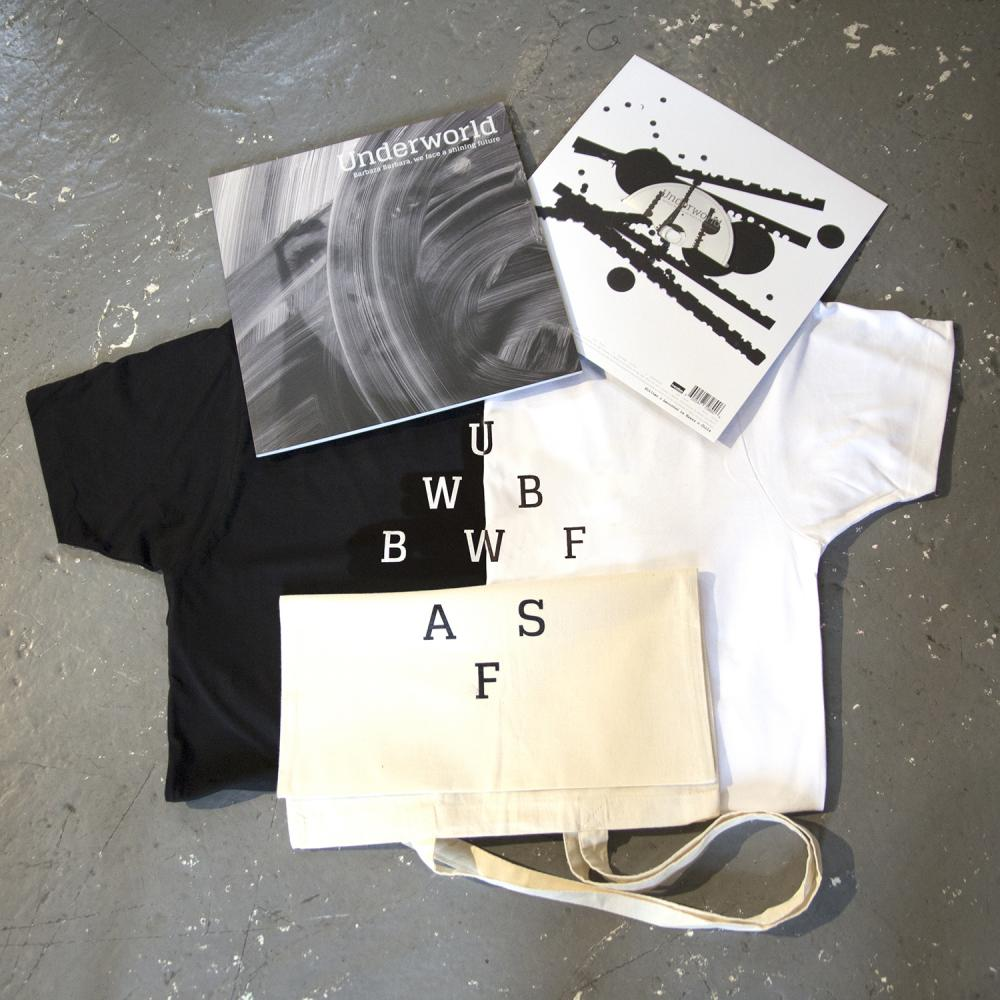 Buy Online Underworld - Barbara Barbara; CD/Book, Tote & black T-Shirt bundle