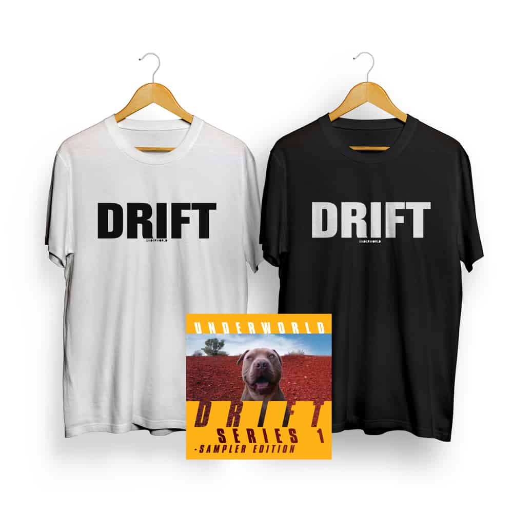 Buy Online Underworld - Drift Songs CD + T-Shirt