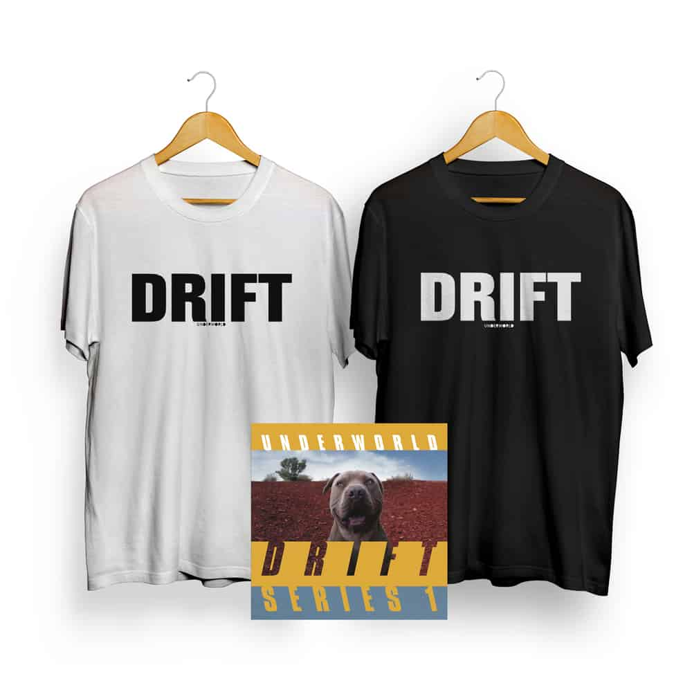 Buy Online Underworld - Drift Songs Boxset + T-Shirt