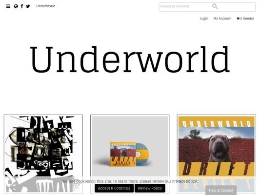 Underworld Official Online Store Merch Music Downloads