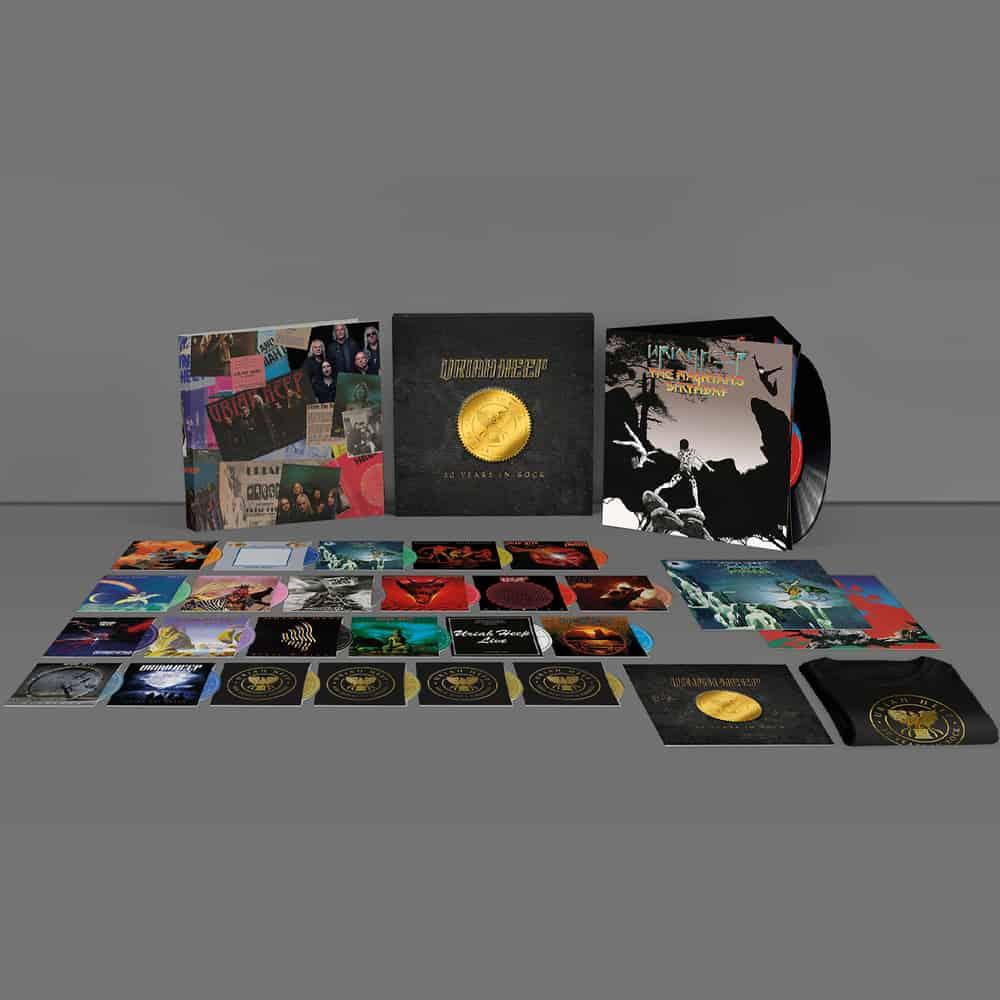 Buy Online Uriah Heep - 50 Years In Rock Boxset + T-Shirt + Signed Art Print