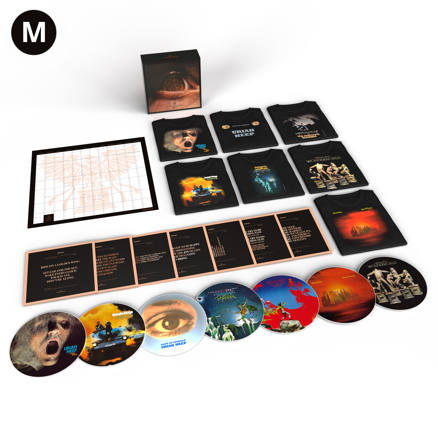 Buy Online Uriah Heep - Every Day Rocks Exclusive 7 Picture Disc Ltd Edition Boxset (Medium x 7 T-Shirts)
