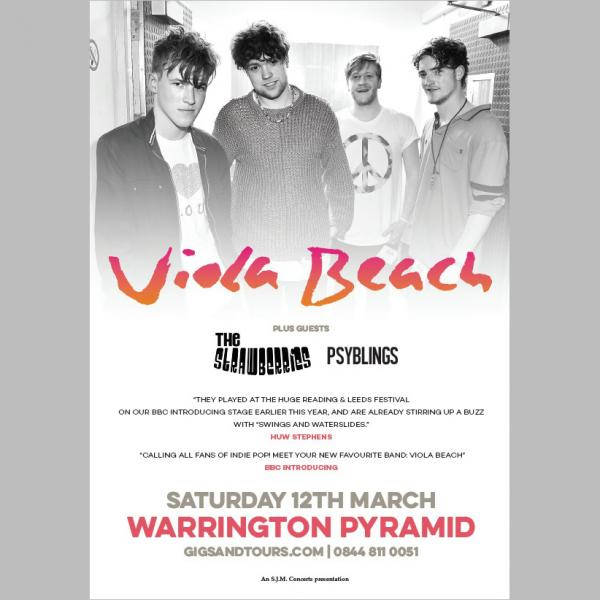 Buy Online Viola Beach - Warrington Pyramid Print (A3)