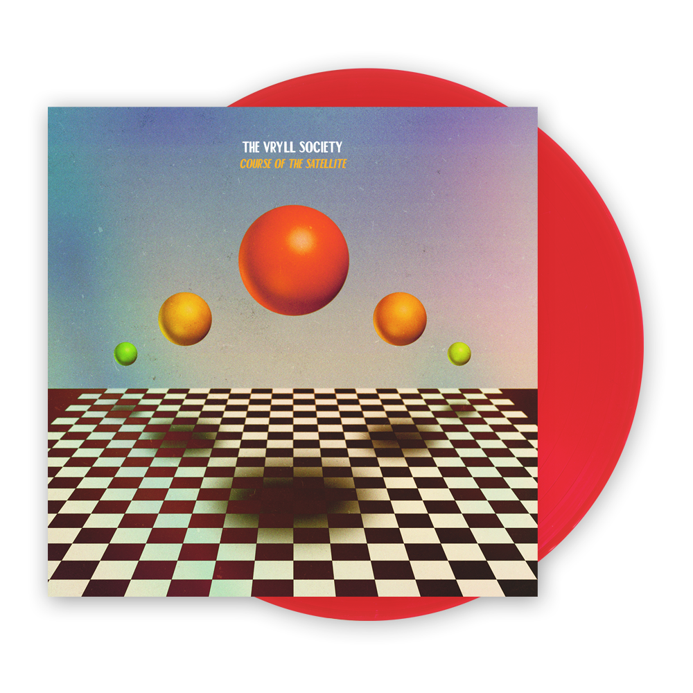 Buy Online The Vryll Society - Course Of The Satellite Transparent Red Vinyl LP (Signed) + Bonus CD