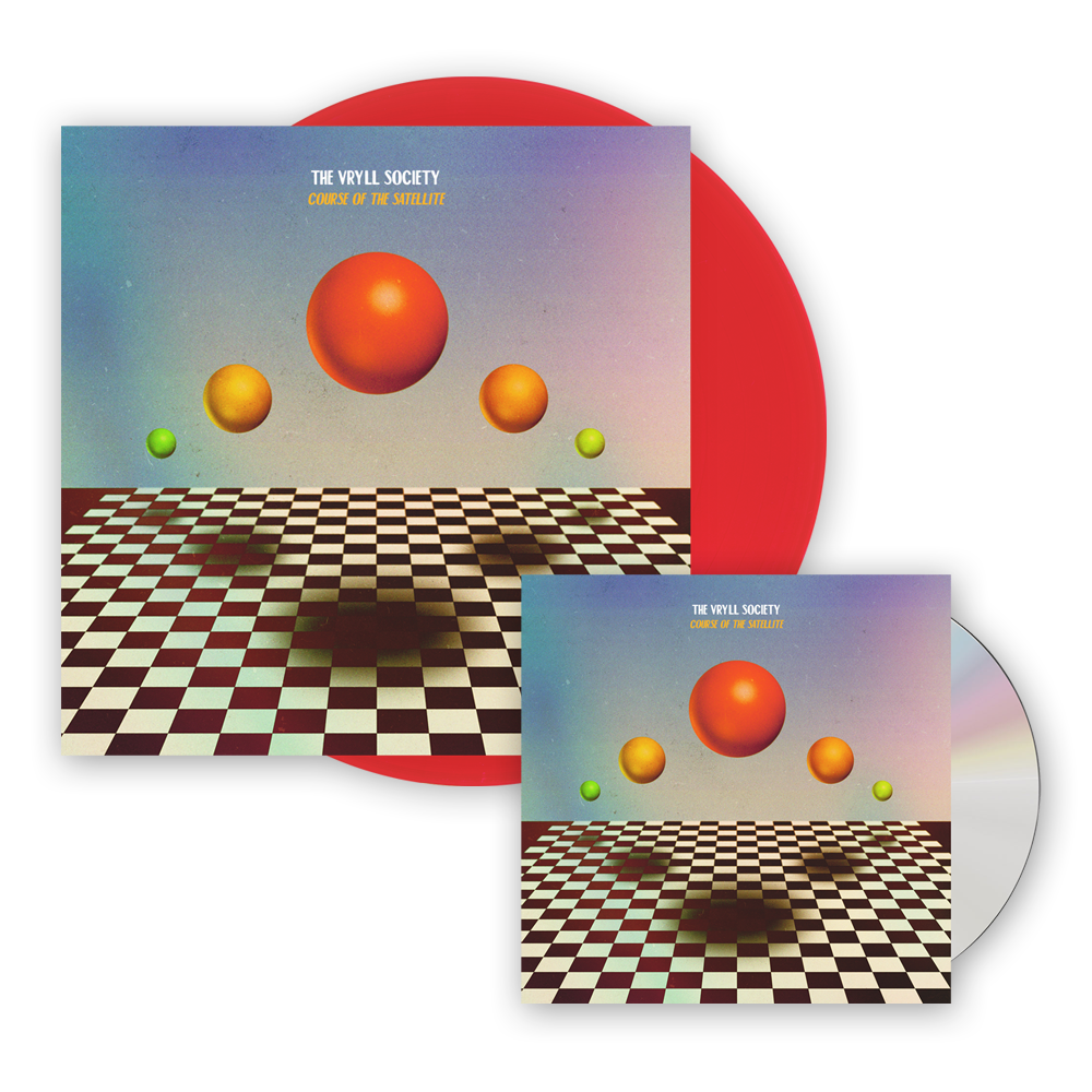 Buy Online The Vryll Society - Course Of The Satellite CD + Transparent Red Vinyl