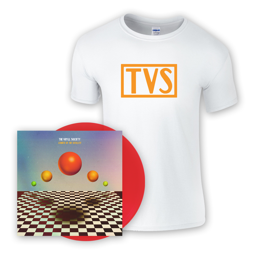 Buy Online The Vryll Society - Course Of The Satellite Transparent Red Vinyl (Signed) + T-Shirt + Bonus CD