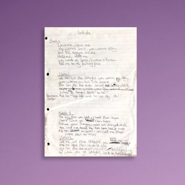 Buy Online Vukovi - Vukovi Handwritten Lyric Book Page (Quarter Page Section)