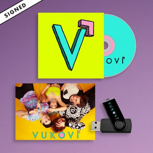 Buy Online Vukovi - Vukovi CD Album (Signed) + USB + Poster