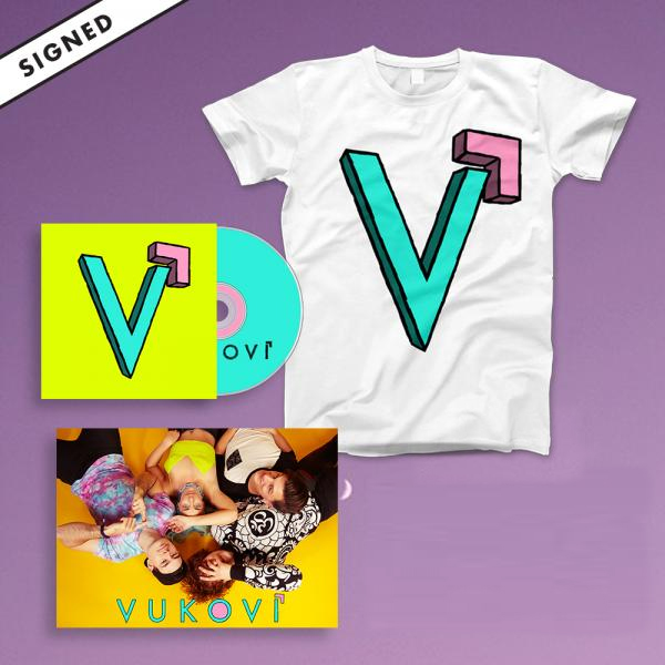 Buy Online Vukovi - Vukovi CD Album (Signed) + USB + Poster + Tee