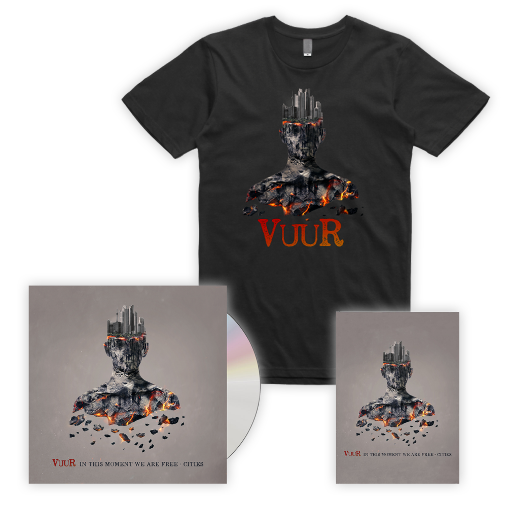 Buy Online VUUR - In This Moment We Are Free - Cities CD + T-Shirt + Postcard