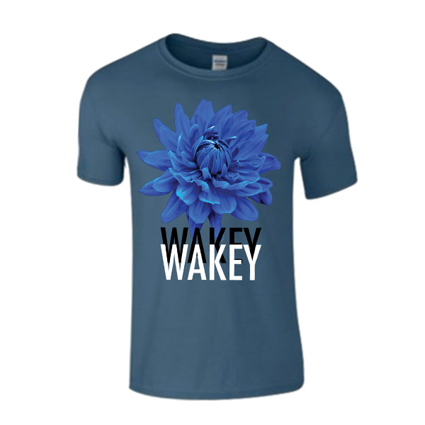 Buy Online Wakey Wakey - Blue Homeless Poets T-Shirt