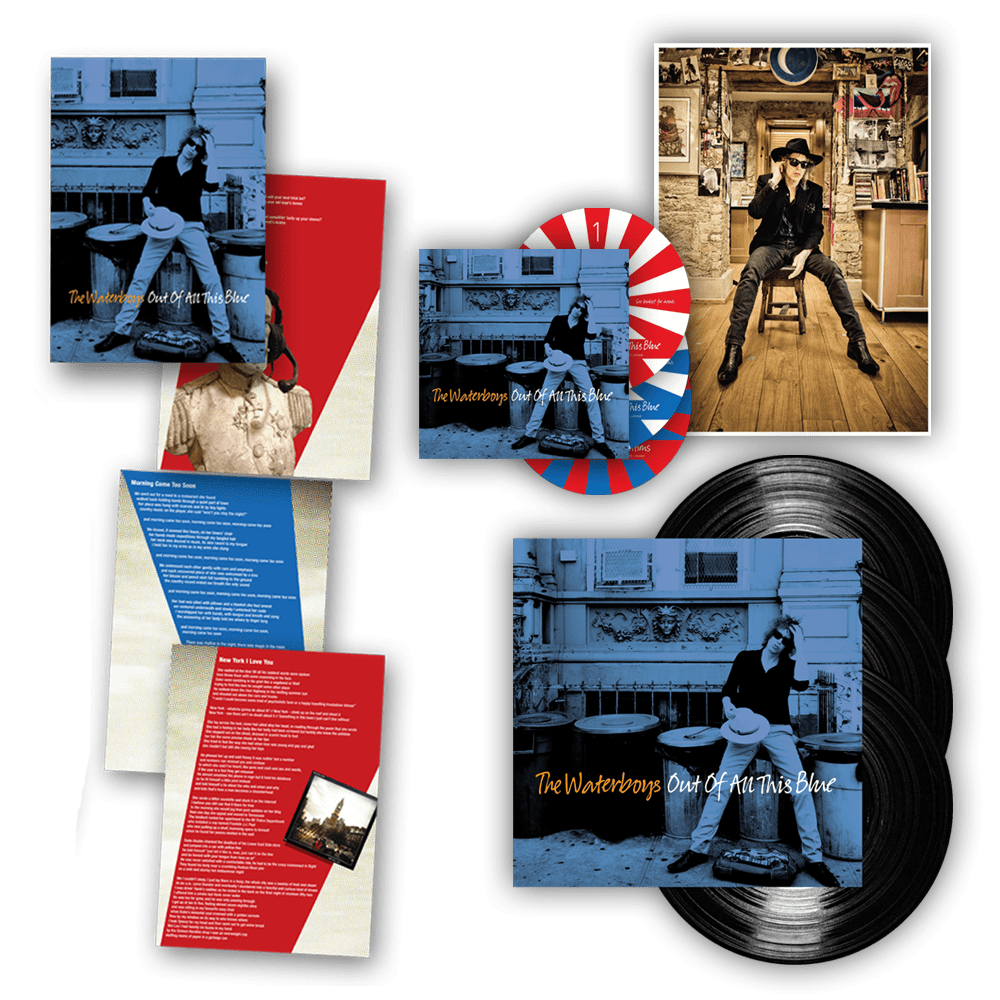 Buy Online Waterboys - Out Of All This Blue Triple Vinyl 3LP + 3CD Album + A4 Photo + Exclusive Folio