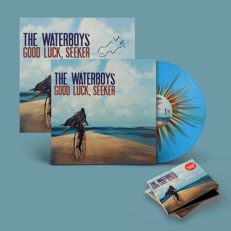 Buy Online The Waterboys - Good Luck, Seeker Splatter Vinyl + Deluxe CD + A4 Lyric Sheet (Signed) + 12