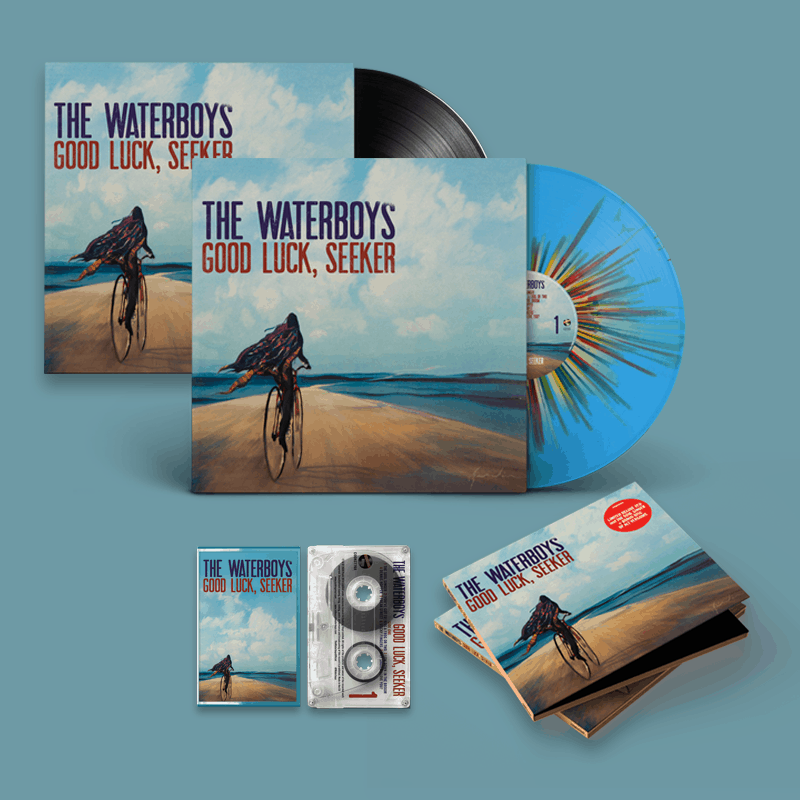 Buy Online The Waterboys - Good Luck, Seeker Splatter Vinyl + Black Vinyl + Deluxe CD + Limited Cassette + A4 Lyric Sheet (Signed) + 12