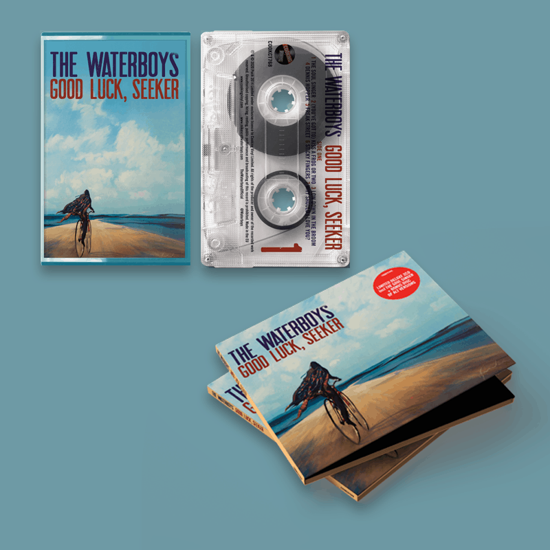 Buy Online The Waterboys - Good Luck, Seeker Deluxe CD + Limited Cassette + A4 Lyric Sheet (Signed)