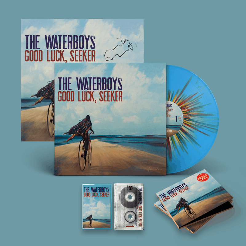 Buy Online The Waterboys - Good Luck, Seeker Splatter Vinyl + Deluxe CD + Limited Cassette + A4 Lyric Sheet (Signed) + 12