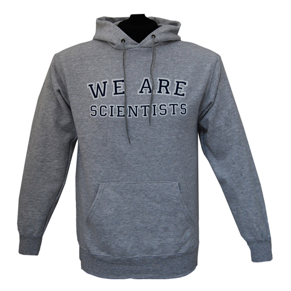 Buy Online We Are Scientists - College Logo Mens Grey Hoody