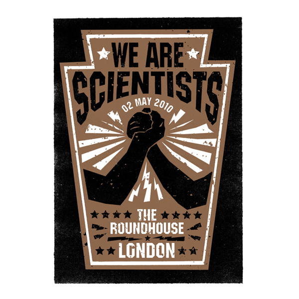 Buy Online We Are Scientists - Roundhouse Screen Print