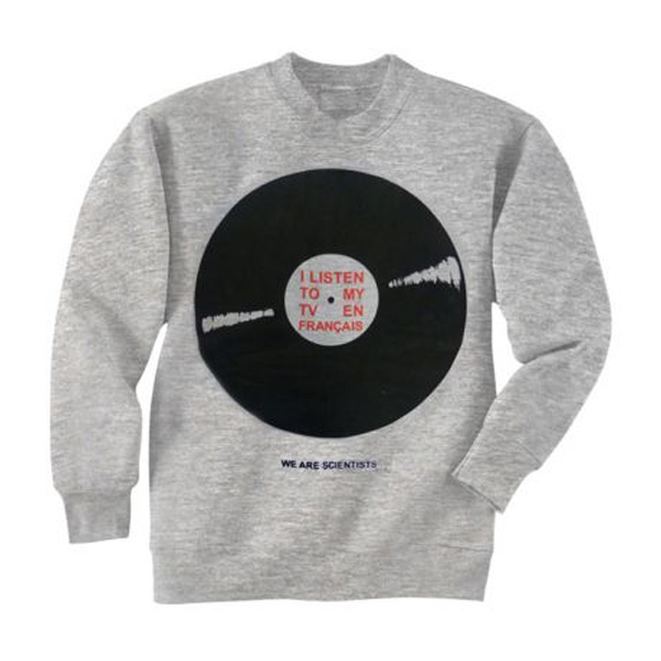 Buy Online We Are Scientists - Record Heather Grey Sweatshirt