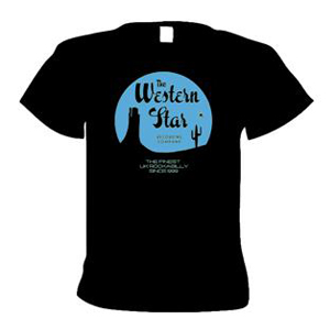 Buy Online Western Star - Classic Logo T-Shirt (Pale Blue On Black)