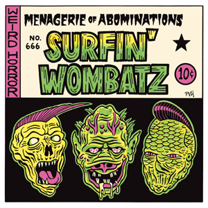 Buy Online The Surfin' Wombatz - Menagerie Of Abominations 10-Inch Mini Album (Coloured Vinyl)