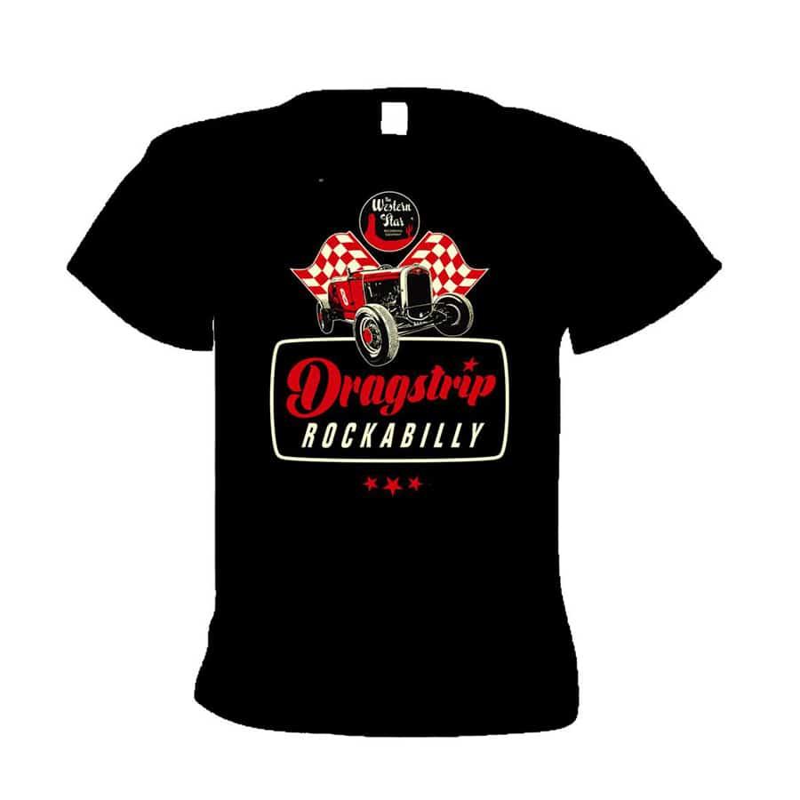 Buy Online Western Star - Dragstrip Rockabilly T-Shirt (Red)