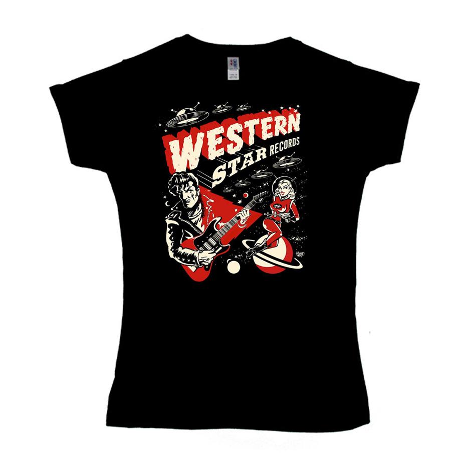 Buy Online Western Star - Western Star - 'Ray-Gun' Design Ladies T-Shirt