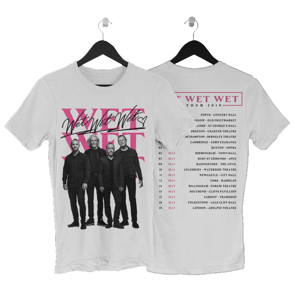 Buy Online Wet Wet Wet - 2019 White Tour T-Shirt