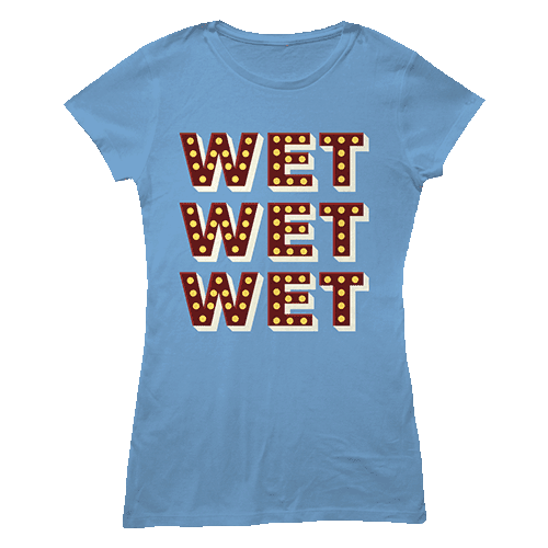 Buy Online Wet Wet Wet - Blue 'Lights' T-shirt