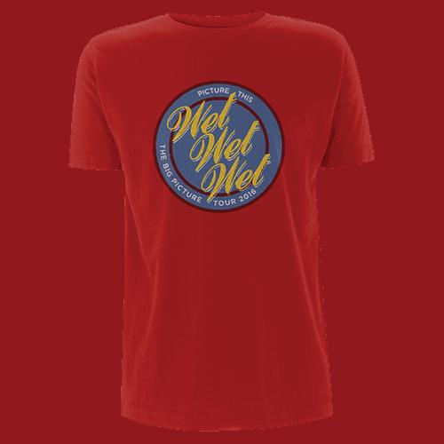 Buy Online Wet Wet Wet - Red 'Logo' T-shirt