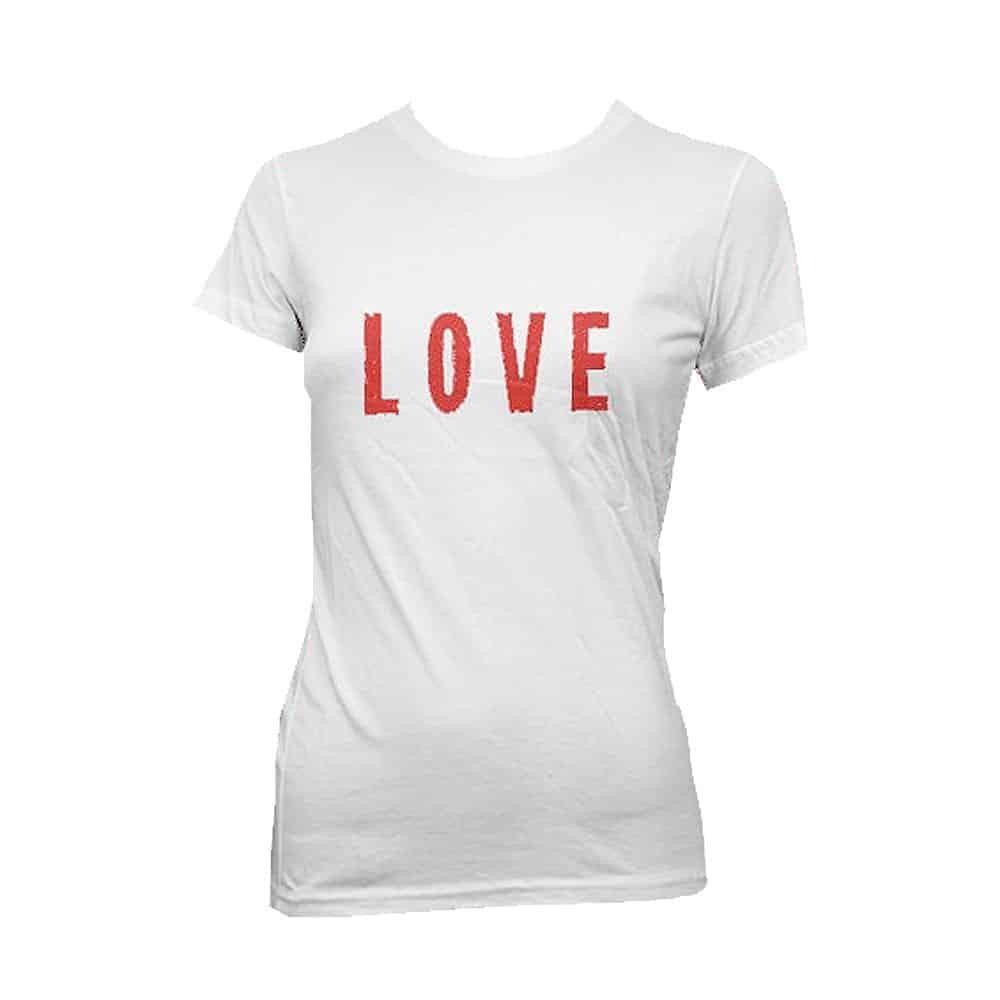 Buy Online Wet Wet Wet - 'Love' White T-shirt