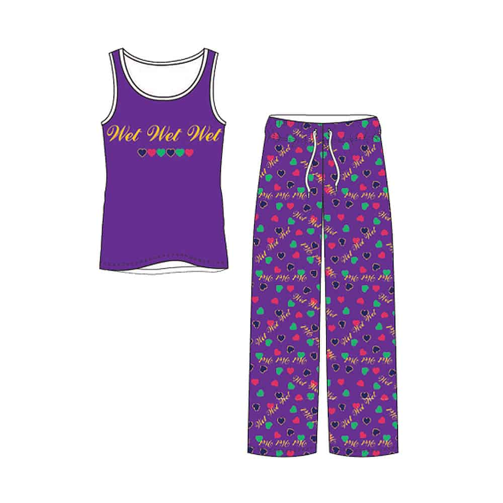 Buy Online Wet Wet Wet - Purple Vest & Lounge Pants Set