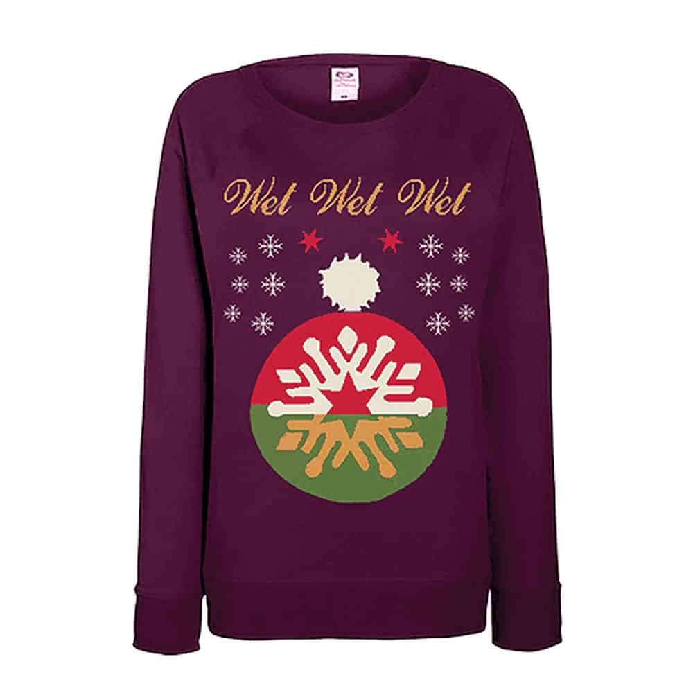 Buy Online Wet Wet Wet - Wine Christmas Jumper
