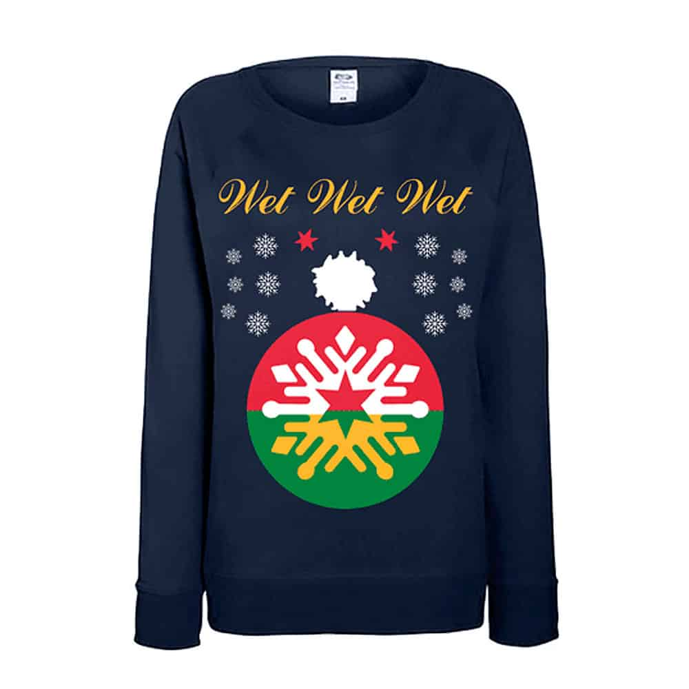 Buy Online Wet Wet Wet - Navy Christmas Jumper