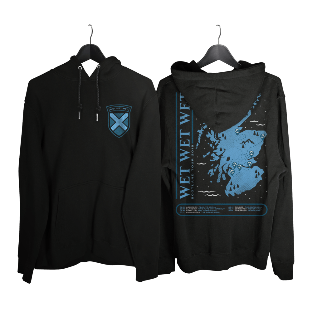 Buy Online Wet Wet Wet - Scotland Tour Zipper