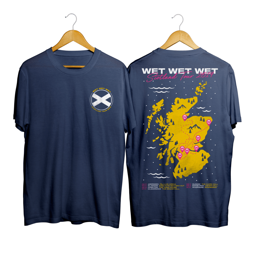 Buy Online Wet Wet Wet - Scotland Tour T-shirt