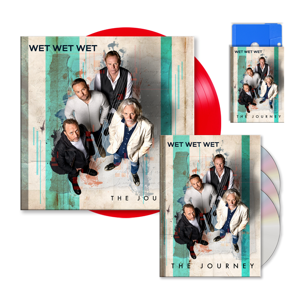 Buy Online Wet Wet Wet - The Journey Deluxe 3-Disc Book Edition (Signed) (Exclusive) + Red 12-Inch Vinyl (Signed) + Blue Cassette (Signed) (Exclusive)