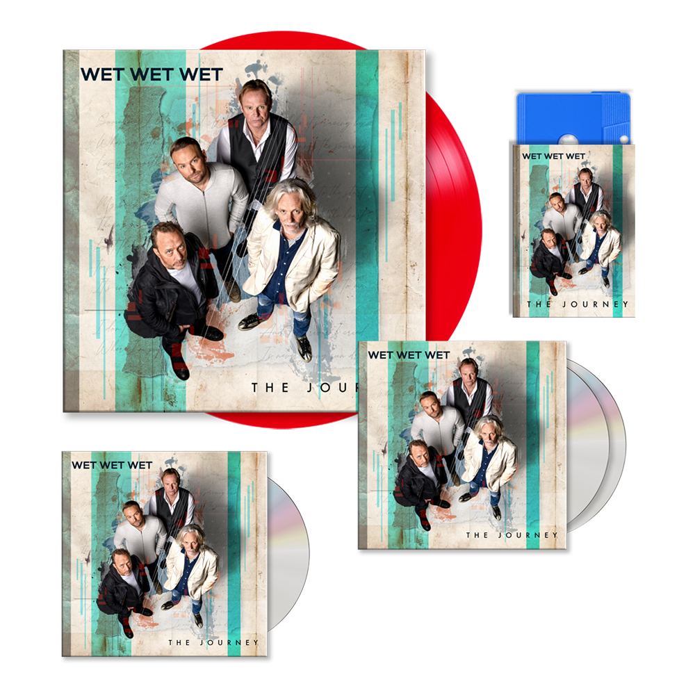 Buy Online Wet Wet Wet - The Journey Deluxe 2CD Special Edition CD (Signed) + Red 12-Inch Vinyl (Signed) + CD (Signed) + Blue Cassette (Signed) (Exclusive)