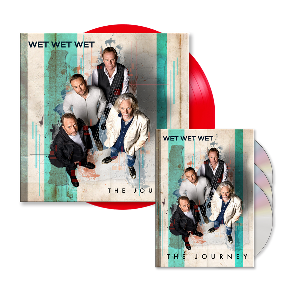 Buy Online Wet Wet Wet - The Journey Deluxe 3-Disc Book Edition (Signed) (Exclusive) + Red 12-Inch Vinyl (Signed)
