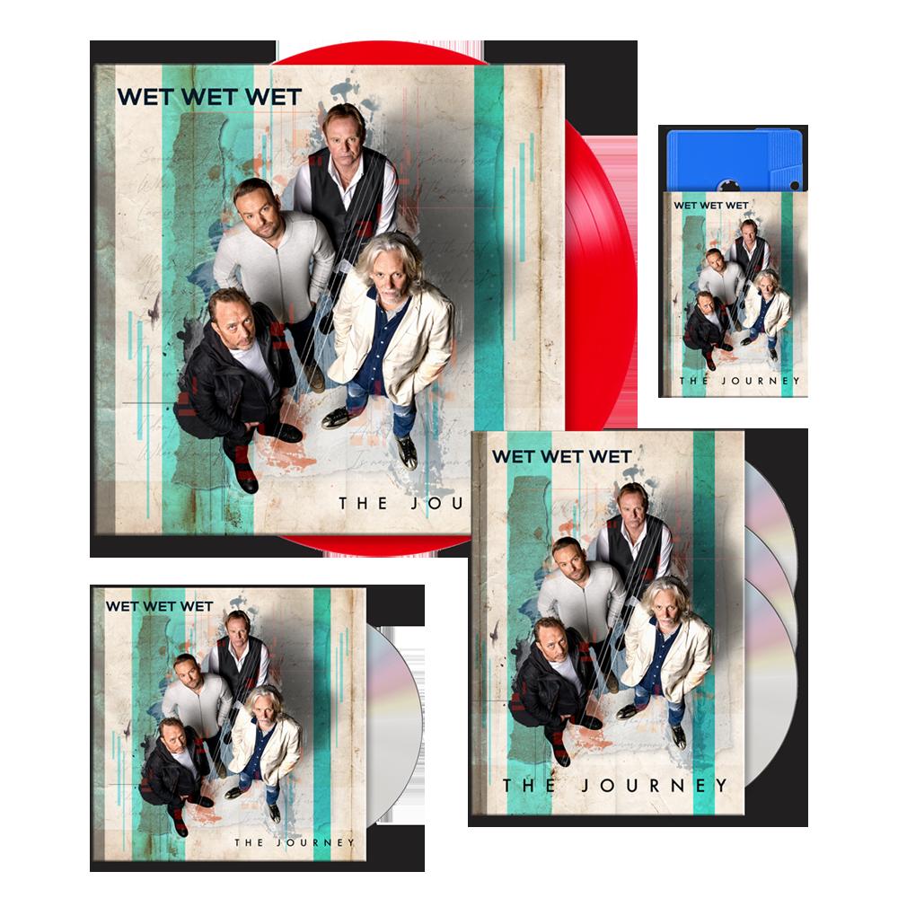 Buy Online Wet Wet Wet - The Journey Deluxe 3-Disc Book Edition (Signed) (Exclusive) + Red 12-Inch Vinyl (Signed) + CD (Signed) + Blue Cassette (Signed) (Exclusive)